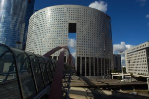 10 Oct 2005, Paris, France --- Headquarters building at La Defense for Arcelor, a steel company in Paris. --- Image by © Patrice Latron/Corbis